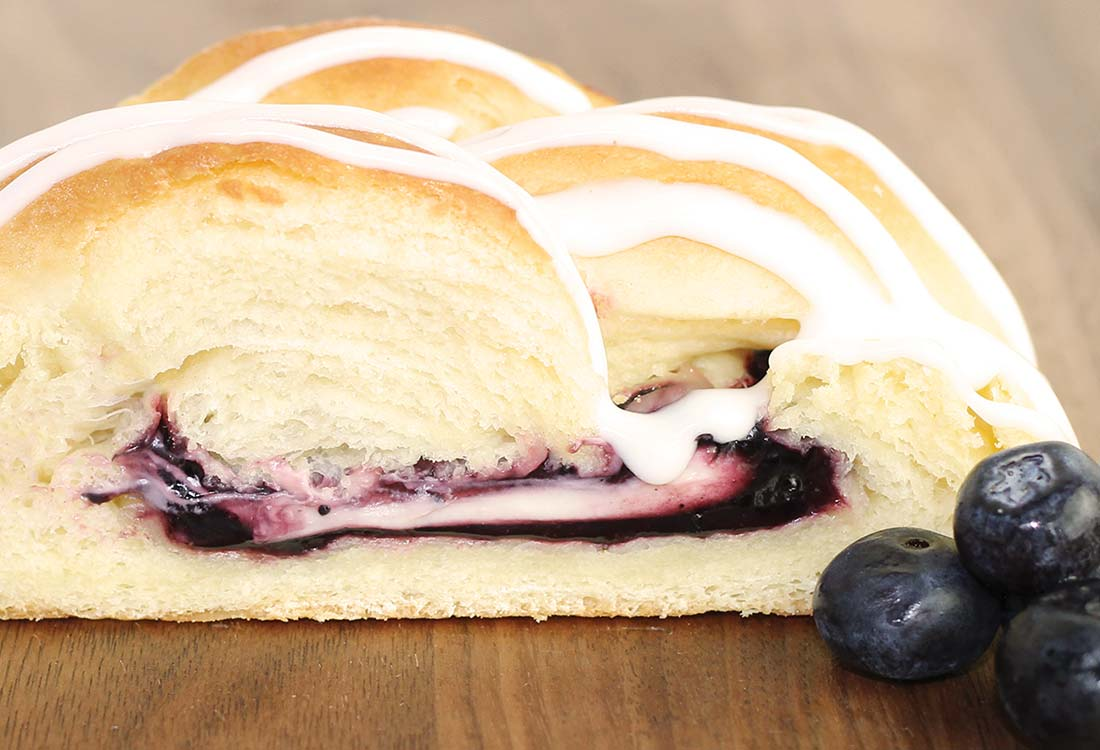 DFW Fundraising | Blueberry & Cream Cheese Butter Braid Pastry | Bluebonnet Fundraising