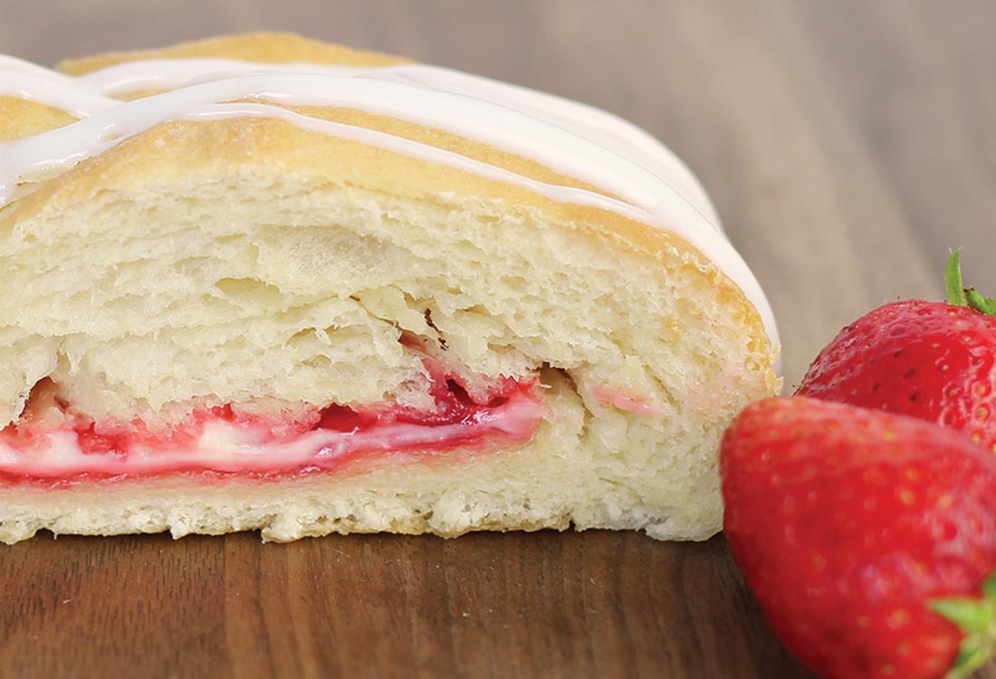 DFW Fundraising | Strawberry & Cream Cheese Butter Braid Pastry | Bluebonnet Fundraising